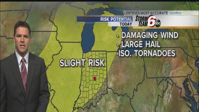 Storms possible through Wednesday
