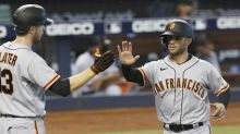 Marlins shut out by Wood, Giants; Marte exits ninth-inning at-bat with injury