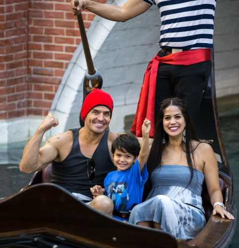 Antonio Sabato Jr. with his wife, Cheryl Moana Marie, and their son Antonio in Las Vegas last year. (Photo: Erik Kabik Photography/ MediaPunch/IPX)