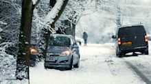 Snow brings travel chaos to UK roads as Met Office issues ice weather warnings until Thursday