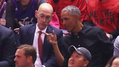 Obama attends NBA Finals ... virtually