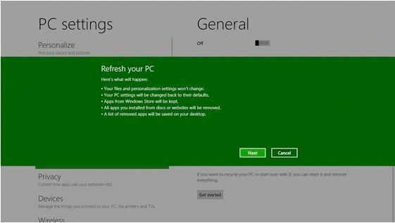 Windows 8's new 'Refresh' and 'Reset' options get detailed