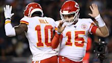 Tyreek Hill says he can't make D.K. Metcalf play because Patrick Mahomes never throws interceptions