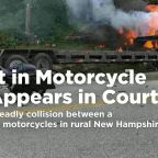 The Latest: Suspect in motorcycle crash appears in court