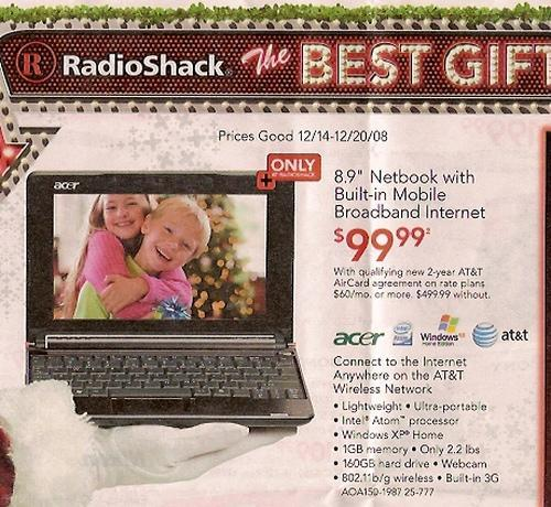 Contract-laden 3G Acer Aspire One hitting US at just $99?