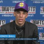 Lakers select UCLA star Lonzo Ball with No. 2 pick in NBA draft