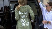 President Trump says Melania's jacket message is about fake news after spokeswoman says there was no hidden message