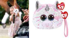 Shop Princess Charlotte's sparkly £7 unicorn bag