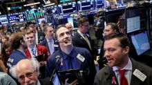 Strong blue-chip results power Wall St. rally