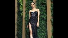 Manushi Chhillar's Glazing Gown Is Dark, Dramatic, And Dreamy