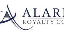 Alaris Royalty Corp. Announces Sandbox Sale