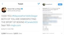 Dana White has some thoughts on Oscar De La Hoya's expletive-laced tweet