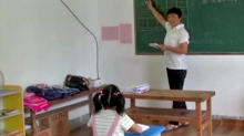 There's a school in rural China with only one student, who learns and plays alone