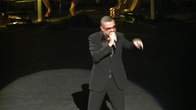 George Michael performs at AIDS charity concert