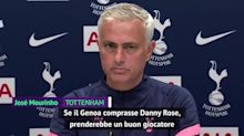 """Mourinho libera Rose: """"Gli auguro di andare al Genoa"""""""