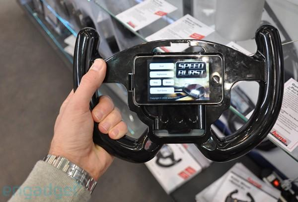 Video: Hama's iPod touch racing wheel exemplifies overkill