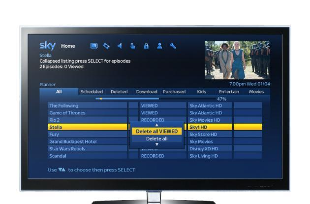 Sky+ update makes it easier to manage your TV recordings