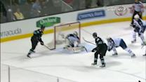 Brent Burns buries backhander off give and go