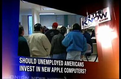 Should unemployed Americans buy Apple gear? The Onion weighs in