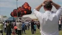Plane crashes into hangar at air show in Madrid