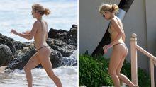 La 'hermanísima' Lottie Moss demuestra que tiene cuerpo de top model bajo el sol de Barbados