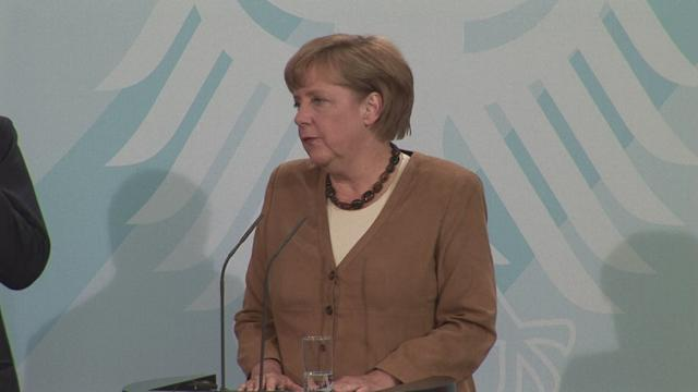 Merkel commends Monti over euro crisis reforms