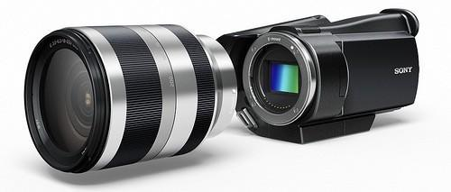 Sony teases high-end camcorder with Exmor APC HD sensor and interchangeable lenses (video)