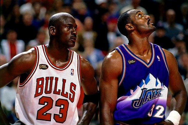 new style 4cf8d 85815 Karl Malone leaves Michael Jordan off his all-time starting five