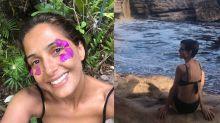 """Camila Pitanga curte férias na Bahia e se derrete pela namorada: """"Minha pisciana"""""""