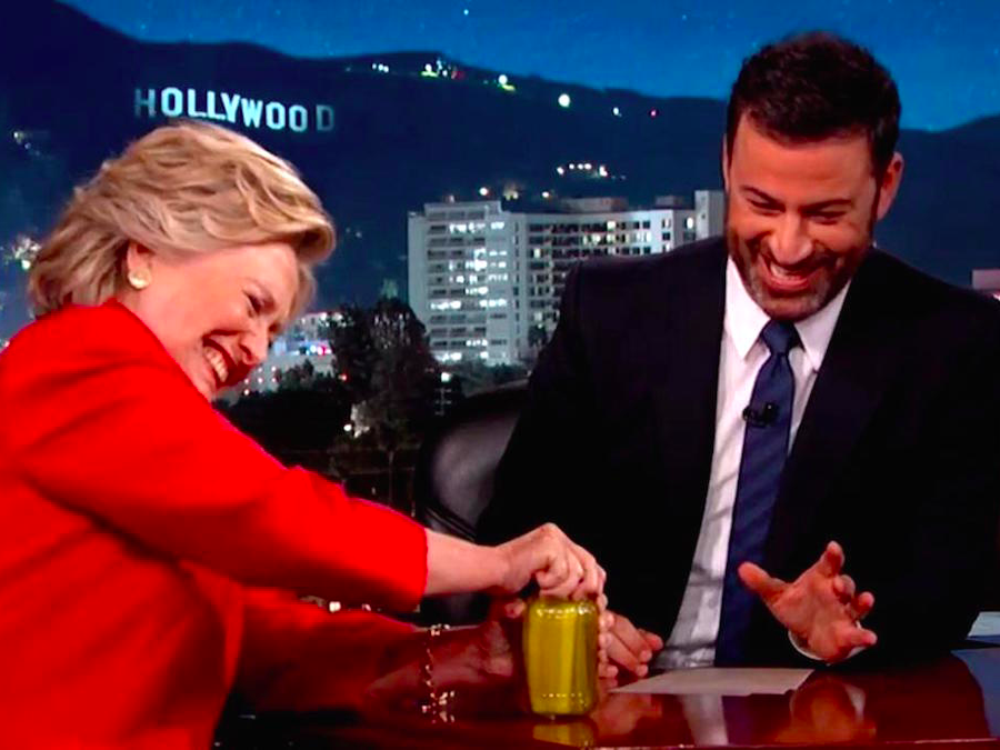 Jimmy Kimmel fires back at accusations that he fixed a pickle jar ...