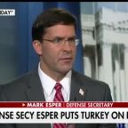 Defense secretary defends decision to pull US troops from Syria
