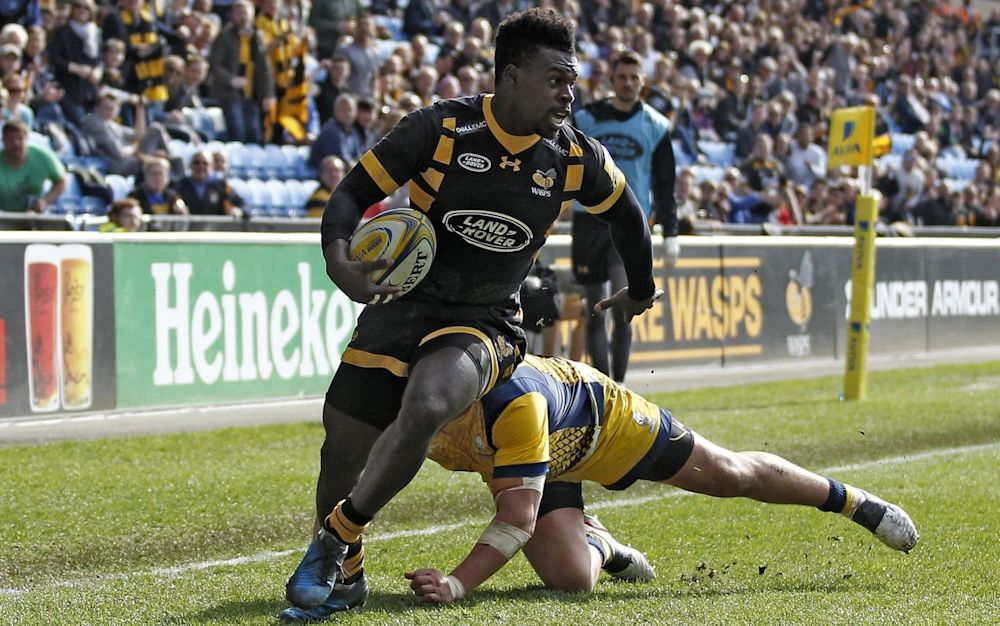 Christian Wade is level with Kenny Logan as Wasps' all-time leading try scorer on 79 - Rex Features