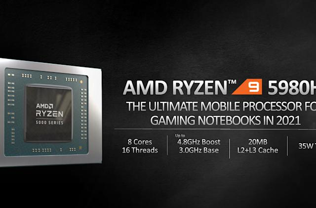AMD's Ryzen 5000 laptop CPUs arrive with big performance claims