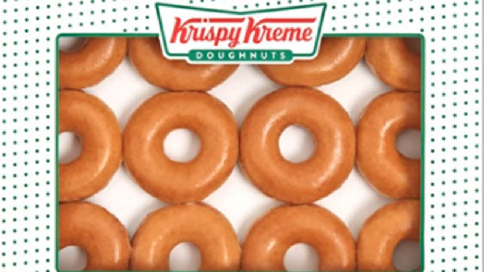 Krispy Kreme selling a dozen doughnuts for 16c until Friday