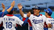 Olympics-Baseball-South Korea smashes Israel 11-1 to advance to final four