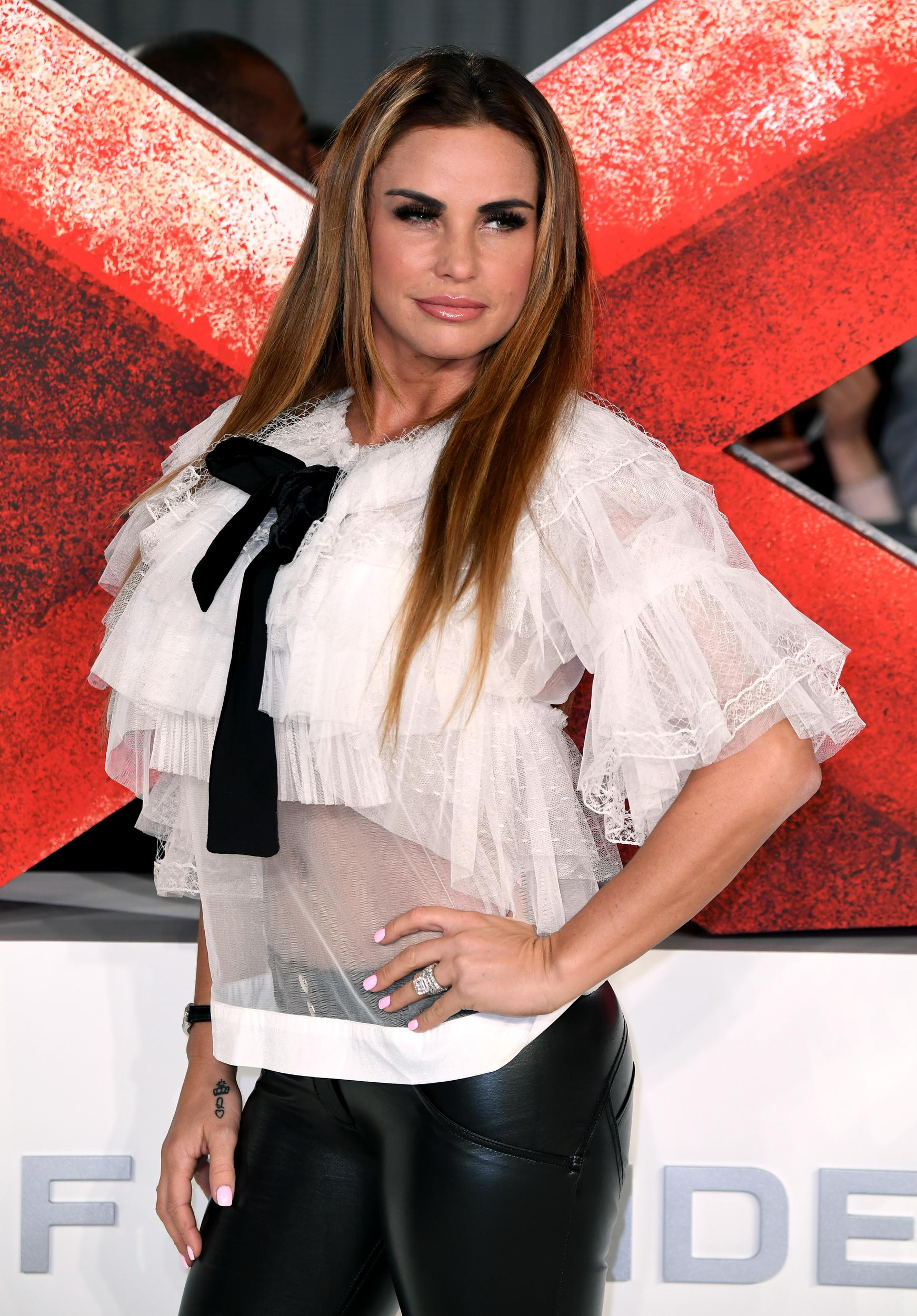 Katie Price attending the xXx: Return of Xander Cage Premiere at the O2 Cineworld, London