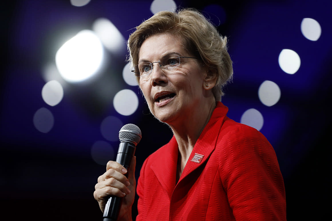 Warren takes shot at Biden with new bankruptcy plan