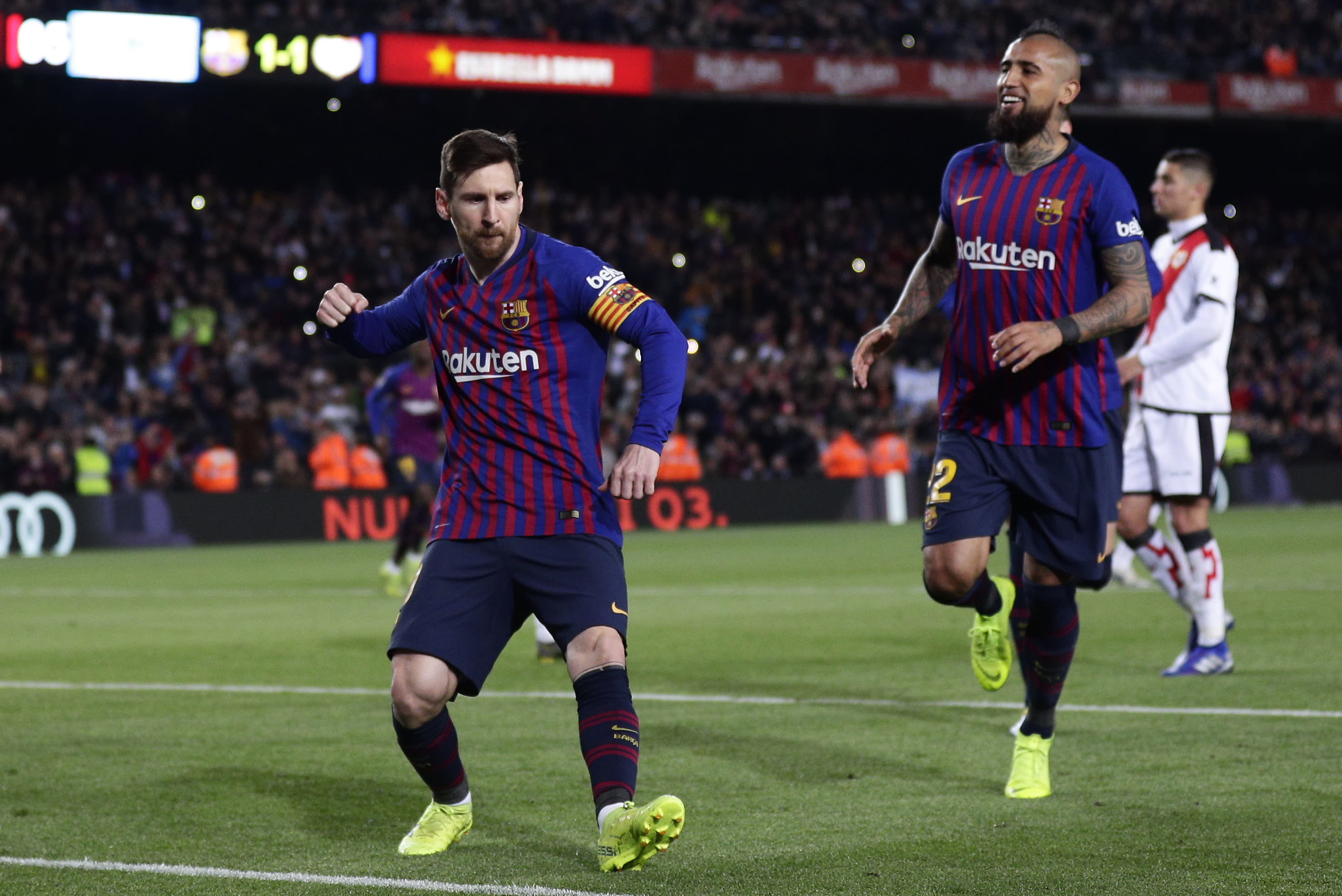messi leads barca win before champions league game vs lyon. Black Bedroom Furniture Sets. Home Design Ideas