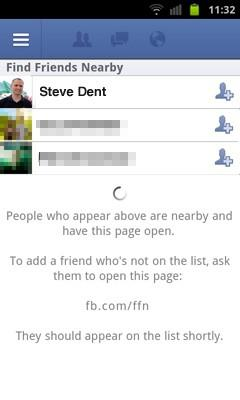 Facebook's Find Friends Nearby:  GPS lets you give nearby mobile users a Friendshake