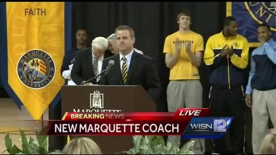 RAW: Marquette introduces new basketball coach
