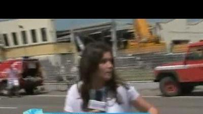 News camera captures Italy aftershock