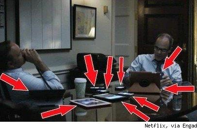 Apple product placement in Netflix's House of Cards