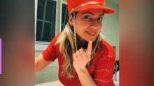 Letícia Spiller revive tempos de paquita no TikTok