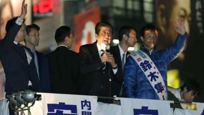 Abe appears headed to win in Japan vote