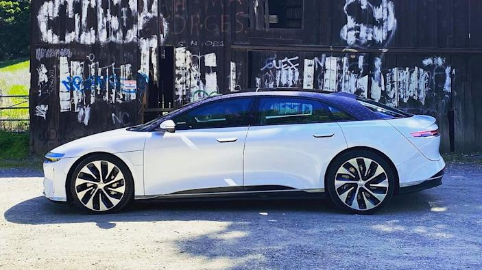 Riding in the Lucid Air luxury EV
