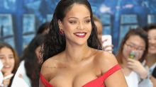 Rihanna Shows Major Cleavage in Head-Turning Red Dress at 'Valerian' Premiere