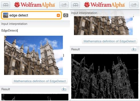Wolfram Alpha in-app purchase for iOS adds advanced image processing capabilities