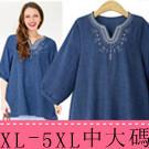 XL-5XL中大尺碼歐美棉麻上衣