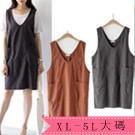 XL-5XL中大尺碼無袖背心連身長裙