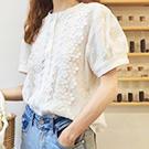 韓系 花邊拼接襯衫上衣